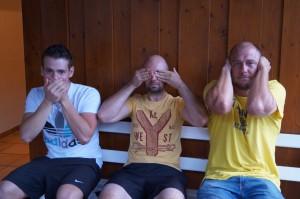 Die drei Affen: Kai, Jens, Piet